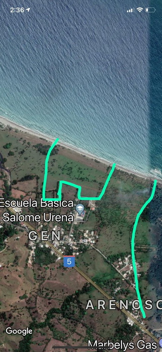 Gaspar Hernandez Beachfront with 400 m beach 75,000 m² Dominican Republic