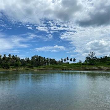 Sabanta unique beautiful riverfront plot 5,765 m2 or 1,4 acre land to build only 15 min from Cabarete Dominican Republic