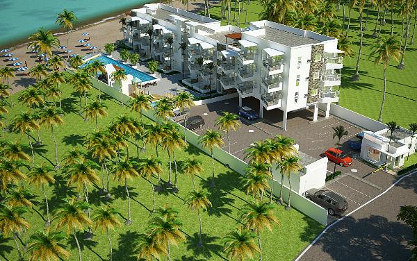 Cabarete area - modern new beachfront condos Dominican Properties